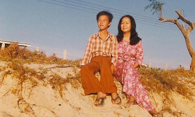 Mẹ và tôi, trại tỵ nạn Songkhla, Thái Lan, 1978